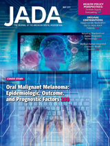 May 2017 Journal of the American Dental Association Cover